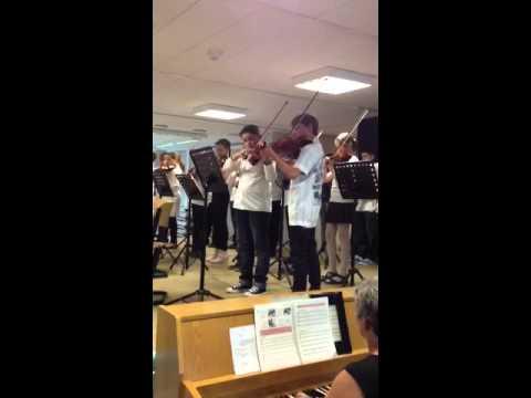 IGS Konzert -Josh mit Bratsche