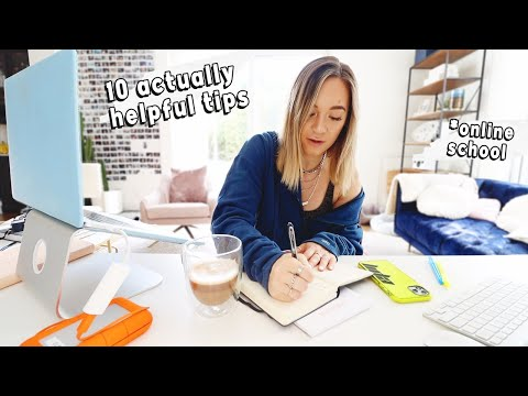 10 Working From Home Tips that ACTUALLY Work!!   *online school / working remote