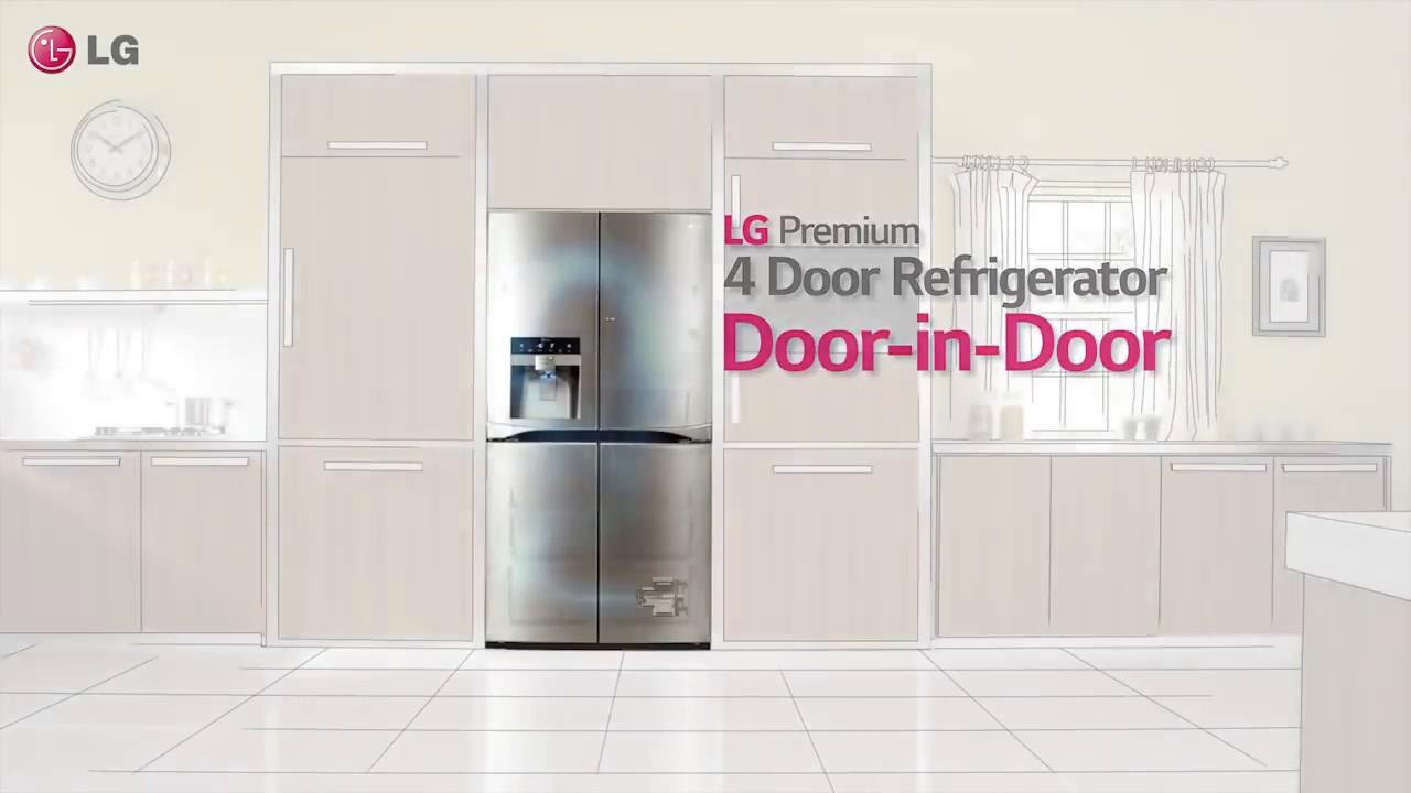 LG Premium 4 Door Refrigerator Door In Door (dispenser)   YouTube
