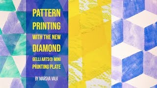 Pattern Printing With The New Diamond Gelli Arts® Mini Printing Plate