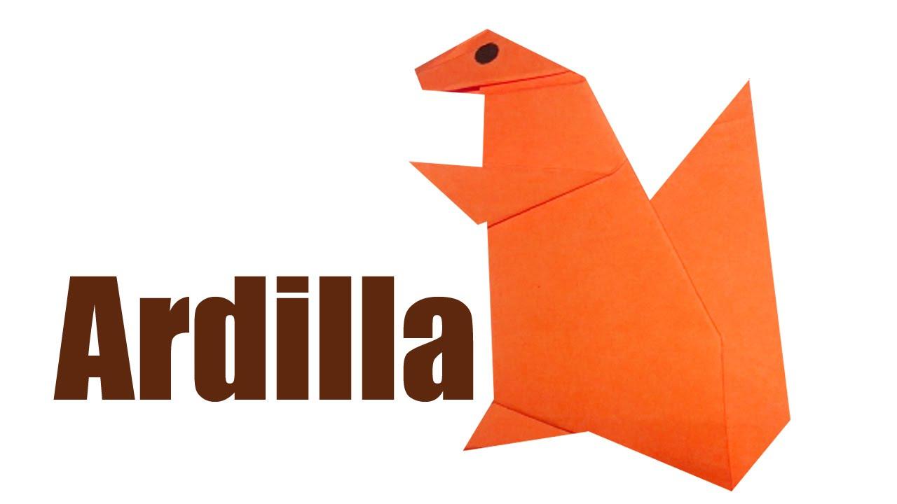 Como hacer una ardilla de papel animales de papel - Como hacer un estor enrollable paso a paso ...