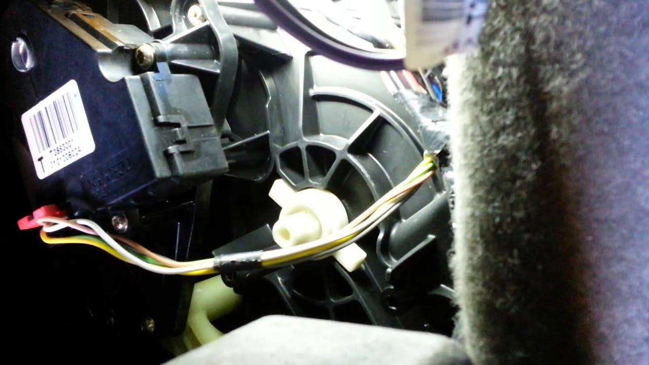 Chevy Blend Door Actuator Replacement  Part 2  YouTube