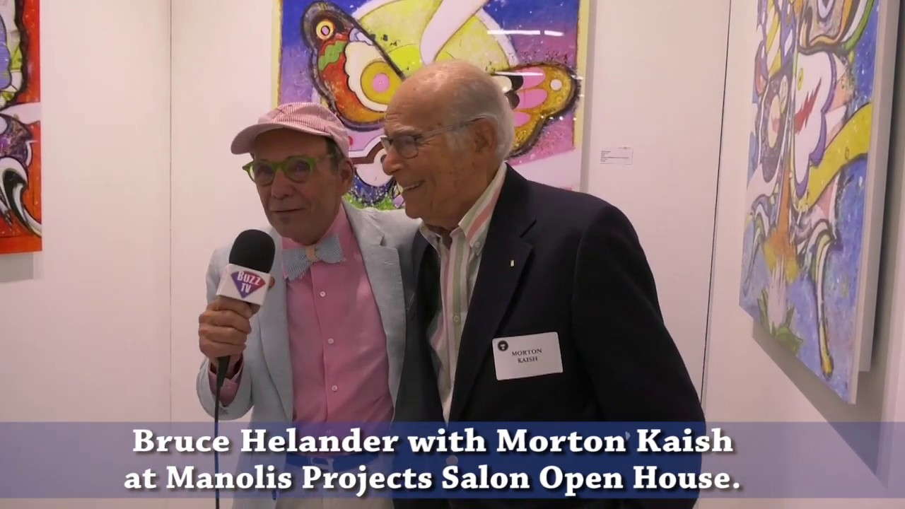 Artist Morton Kaish and Bruce Helander