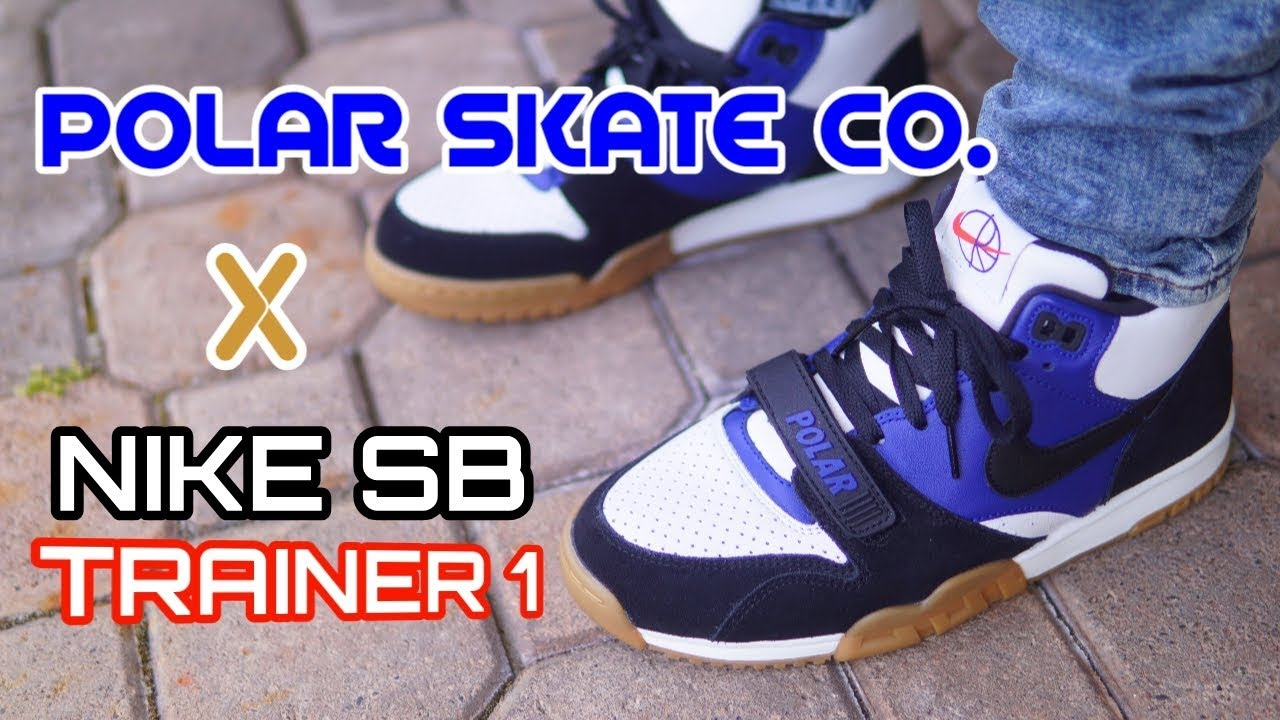 POLAR SKATE NIKE SB AIR TRAINER 1 - On Feet Review