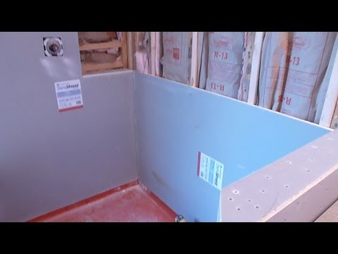 How To Install Shower Surround Tile Backer Board Durock Or Cement Board