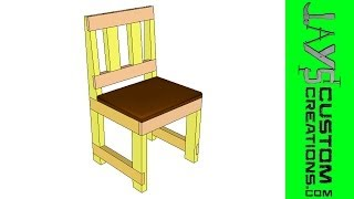 Sketchup - Half Lap 2x4 Dining Chair - 107