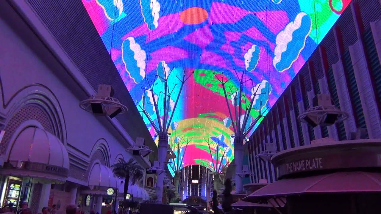 Ceiling Light Show Fremont Street Las Vegas Nv The Zombies Time Of Season You