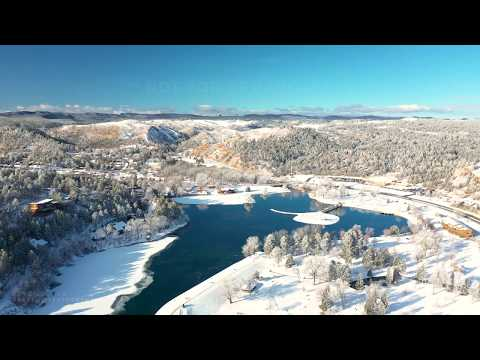 12-15-19 Rapid City, SD - Lifting Freezing Fog Scenic Aerial Video Over Town