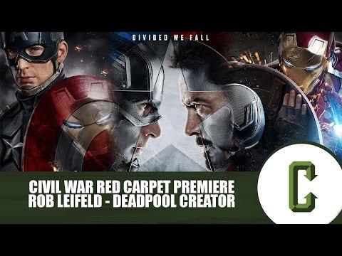 Deadpool Creator Rob Liefeld on the Captain America Civil War Red Carpet