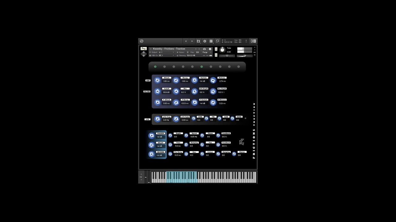 Kwonky Instruments releases Frictions Traction free Kontakt