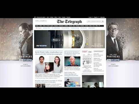 Sky Atlantic online newspaper ad