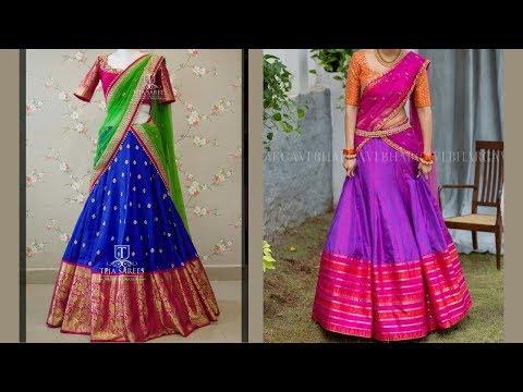 South Indian Half Saree Designs