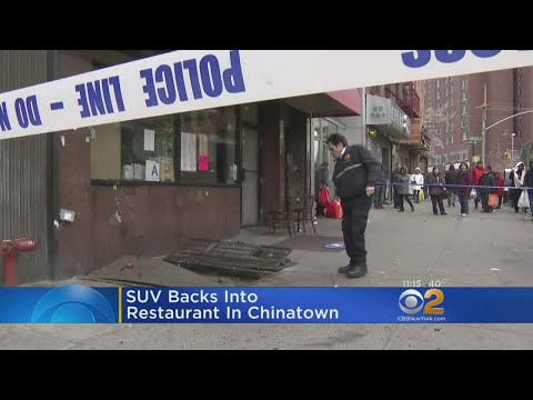 SUV Backs Into Restaurant In Chinatown