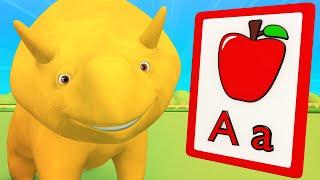 Apprends avec Dino - Apprends à l'Alpabet: A-E - Dino le Dinosaure   dessins animés Éducatifs pour les Enfants