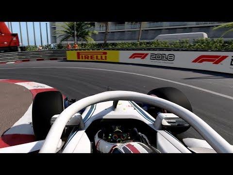 F1 2018 first gameplay - Charles Leclerc around Monaco