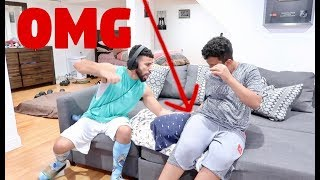 ACCIDENTALLY SITTING ON BABY PRANK!!