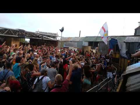 Jus Now rock The Blues at Silver Hayes, Glastonbury Festival 2013