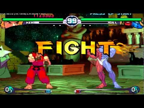 Street Fighter 3 2nd Impact Giant Attack : Ken (me) Vs Gill