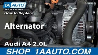 How to Install Replace Alternator 2002-08 Audi A4 2.0L