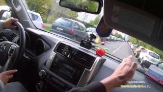 Вождение перекрёстки как выполняется поворот на лево Toyota Land Cruiser Prado