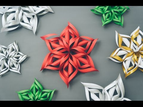 This Video Tutorial Gives Step By Instructions On How To Make 3 Dimensional Paper Snowflakes That You Can Hang A Wall Or The Window
