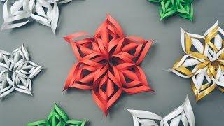 Hướng dẫn cách cắt bông tuyết giấy 3D tuyệt đẹp