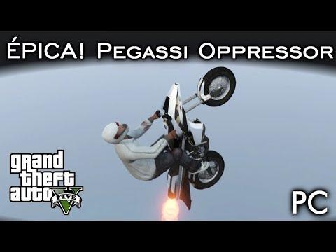 MOTO FOGUETE ÉPICA! Pegassi Oppressor! DLC Gunrunning | GTA V - PC [PT-BR]