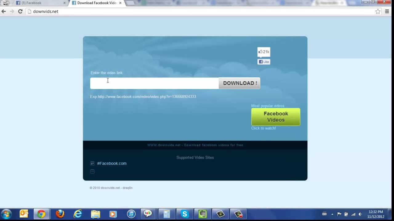 how to download a facebook video you tube