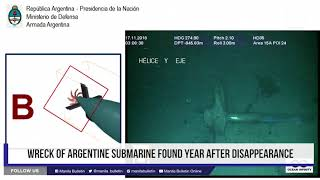 Wreck of Argentine submarine found year after disappearance thumbnail