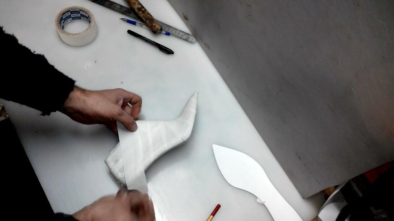Делаем женские туфли лодочки часть 1 / How to make high heels .