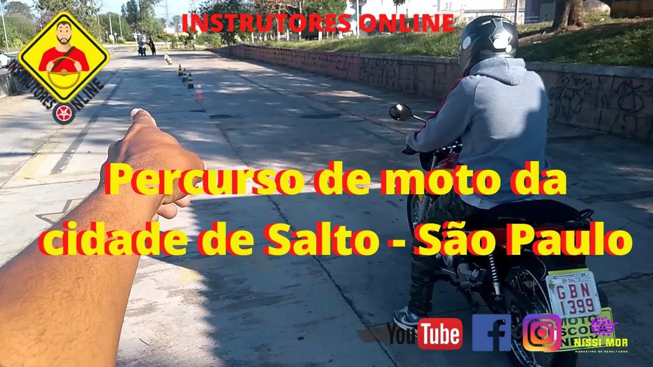 Percurso de moto da cidade de Salto/ São Paulo