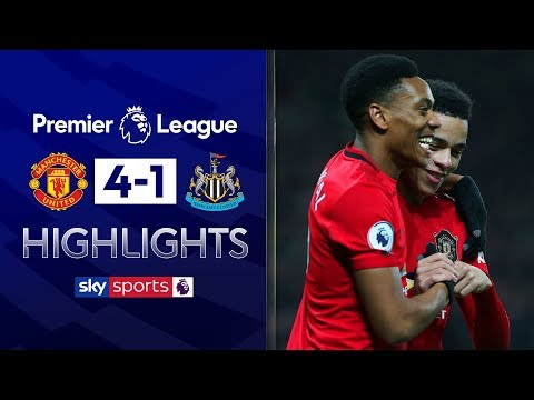 Martial, Greenwood & Rashford score in rout | Man United 4-1 Newcastle | Premier League Highlights