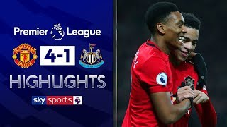 Martial, Greenwood & Rashford score in rout | Man United 4-1 Newcastle | Premier League Highlights