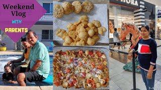 Kuch Aisa Raha Weekend Humara Parents Ke Sath | Mom Made Delicious Lunch And Chaat | Real Homemaking