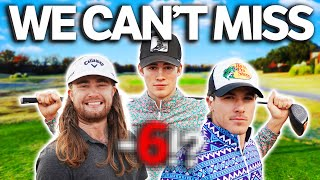 GM GOLF | EPIC 3 Man Scramble | How Low Can We Go?!? | Kyle Berkshire, Garrett Clark & Micah Morris