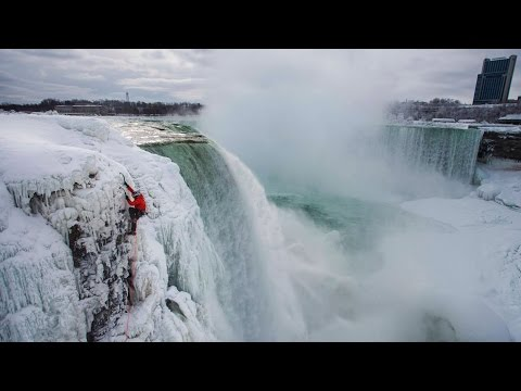 Will Gadd's Historic Climb Up Frozen Niagara Falls