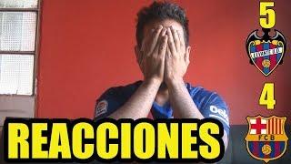 """Levante 5 FC Barcelona 4 """"Adios al invicto""""  Reacciones del partido"""