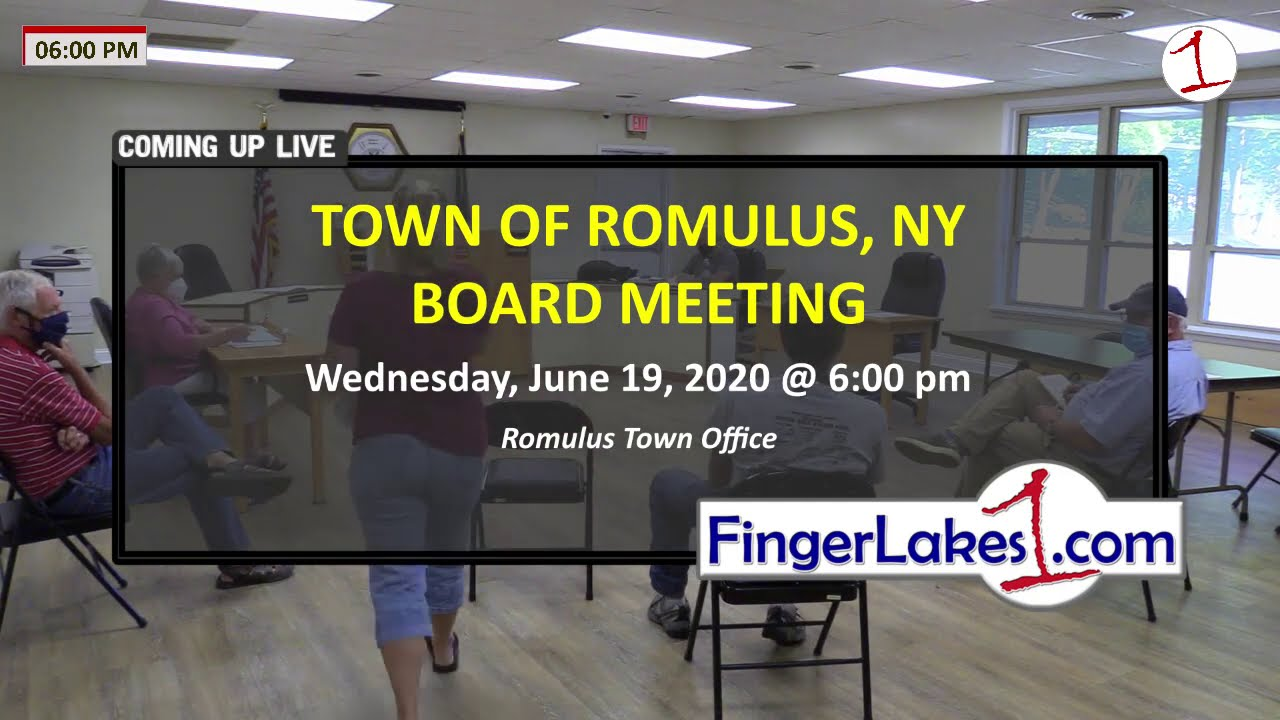 Town of Romulus Board Meeting 8/19/20 .::. FingerLakes1.com