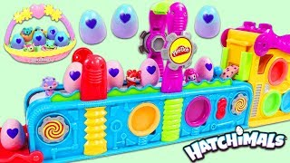 Making Hatchimals Surprise Eggs with Magic Play Doh Mega Fun Factory Playset!