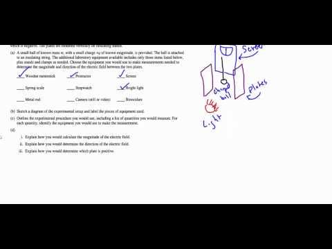 AP Physics B 2011B Question 2 - Electrostatics