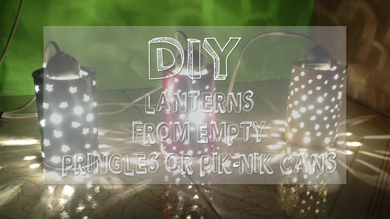 DIY Lanterns from Empty Pik-Nik/Pringles Can - YouTube