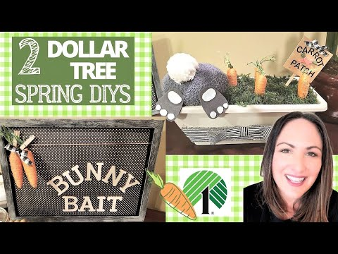 DOLLAR TREE SPRING DIYS * NEW * BUNNY INSPIRATIONS + DOLLAR TREE EASTER DECOR DIYS  2020