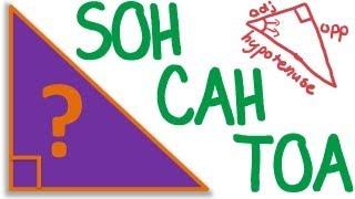Maths Tutorial: Trigonometry SOH CAH TOA (trigonometric ratios)