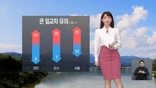 강아랑 기상캐스터 201010 KBS 9시 뉴스