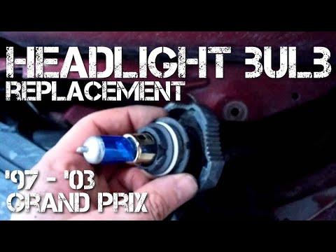 Headlight Bulb Replacement Installation Grand Prix 97 03