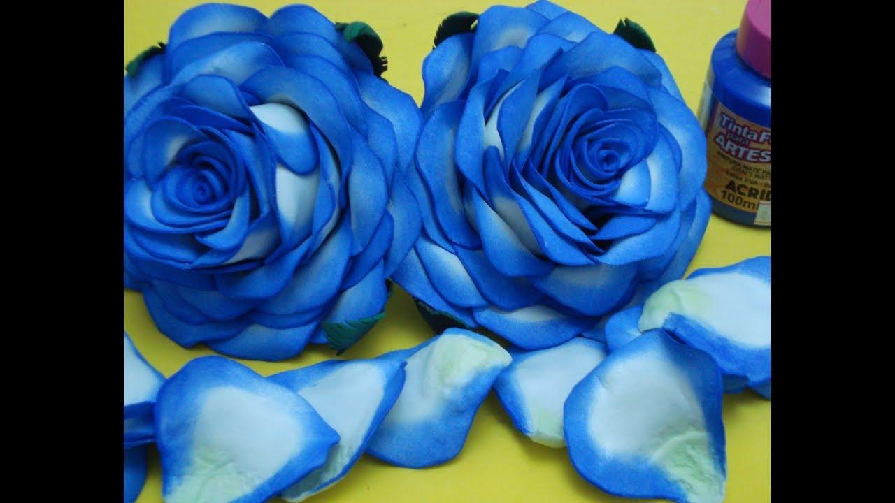 Aprenda A Pintar E Fazer A Petala Da Rosa Em Eva Com Tinta Pva