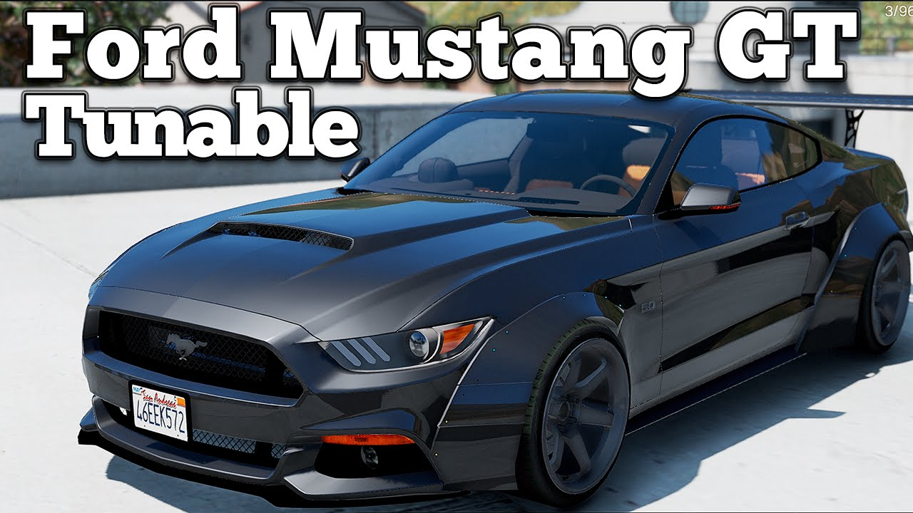 Gta v pc mods ford mustang gt rocketb wide body tunable download