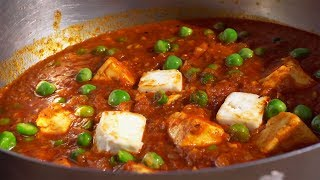 Best Matar Paneer and Soft Lachhedar Roti | Punjabi Coking