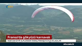 Kostüm giyip Alpler'den yamaç paraşütüyle atladılar