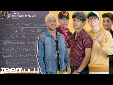 CNCO Create The Playlist To Their Lives | Teen Vogue